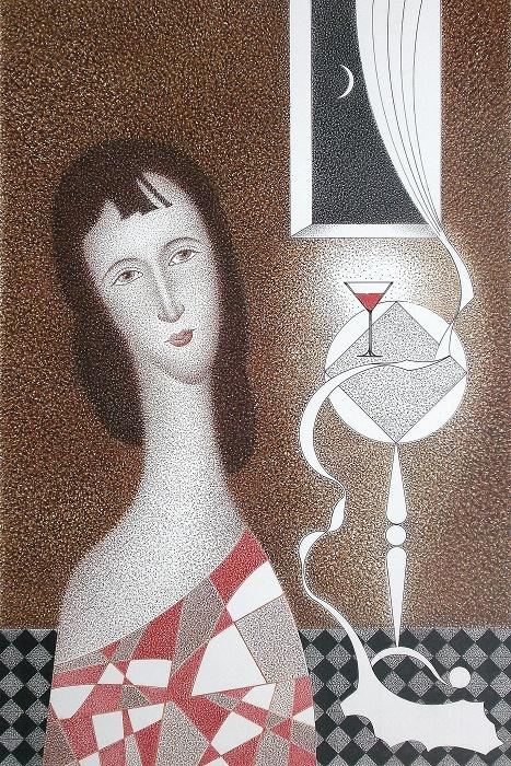 Бокал вина. Автор — Олег Безуглый