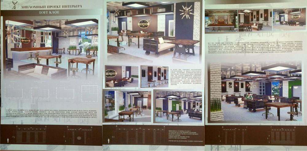 Ковтун Света. Проект интерьера loft-кафе